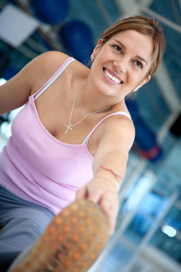 Download Gym woman stretching stock image. Image of fitness, lifestyle - 15654623