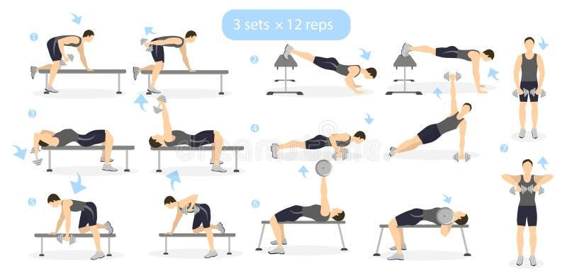 Gym workout set. royalty free illustration