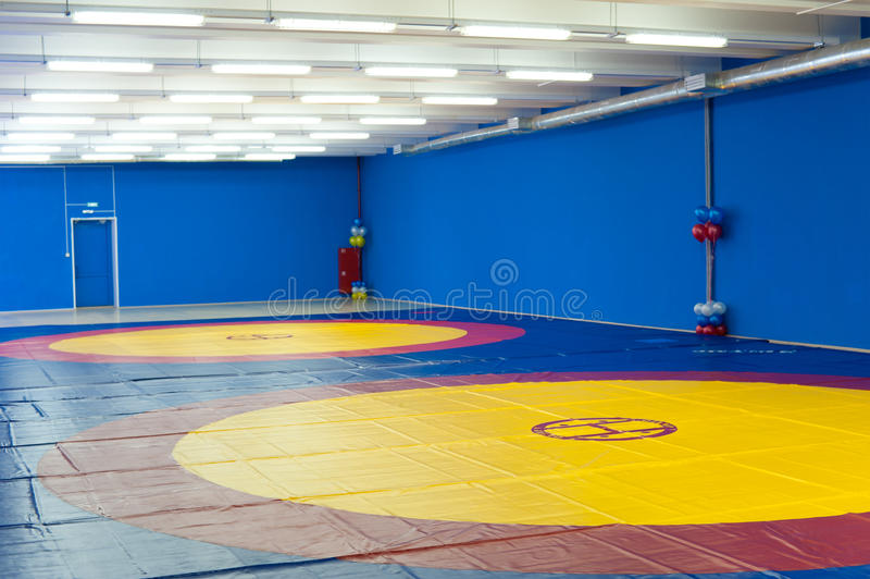 Gym for wrestling stock image