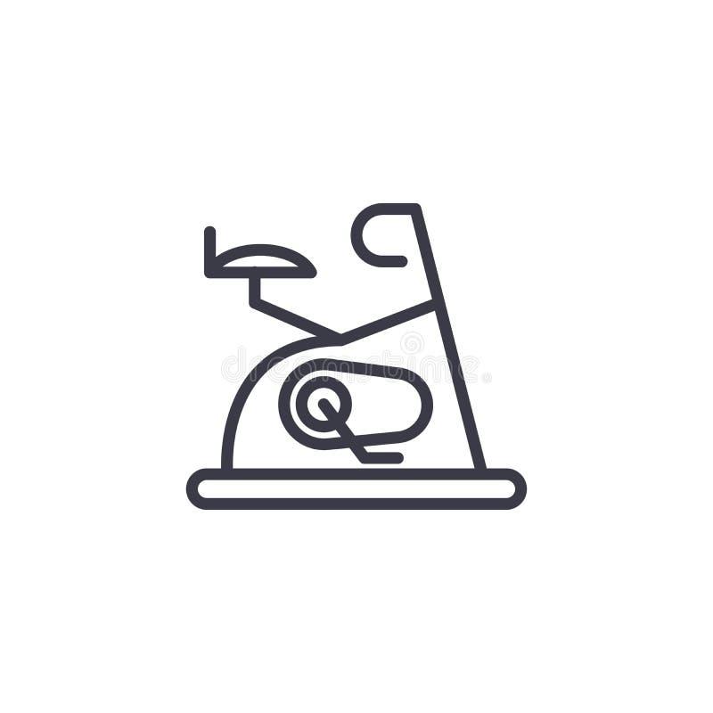 Gym wyposażenia ikony liniowy pojęcie Gym wyposażenia linii wektoru znak, symbol, ilustracja ilustracja wektor