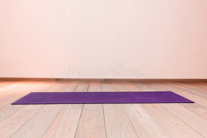 Gym with yoga mat royalty free stock photos