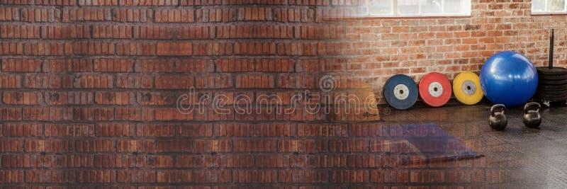 Gym z cegły przemianą obrazy stock