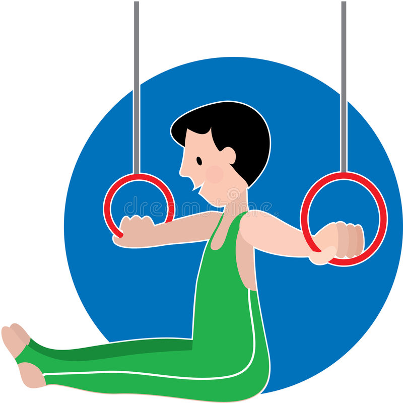 Download Gymastics Boy on Rings stock vector. Image of rings, gymnastics - 2324819