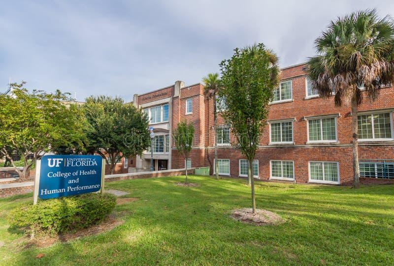 Gymnase de la Floride à l'université de la Floride image libre de droits