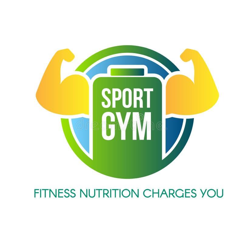 Gymnase de sport marquant avec des lettres la conception de logo de vecteur illustration stock