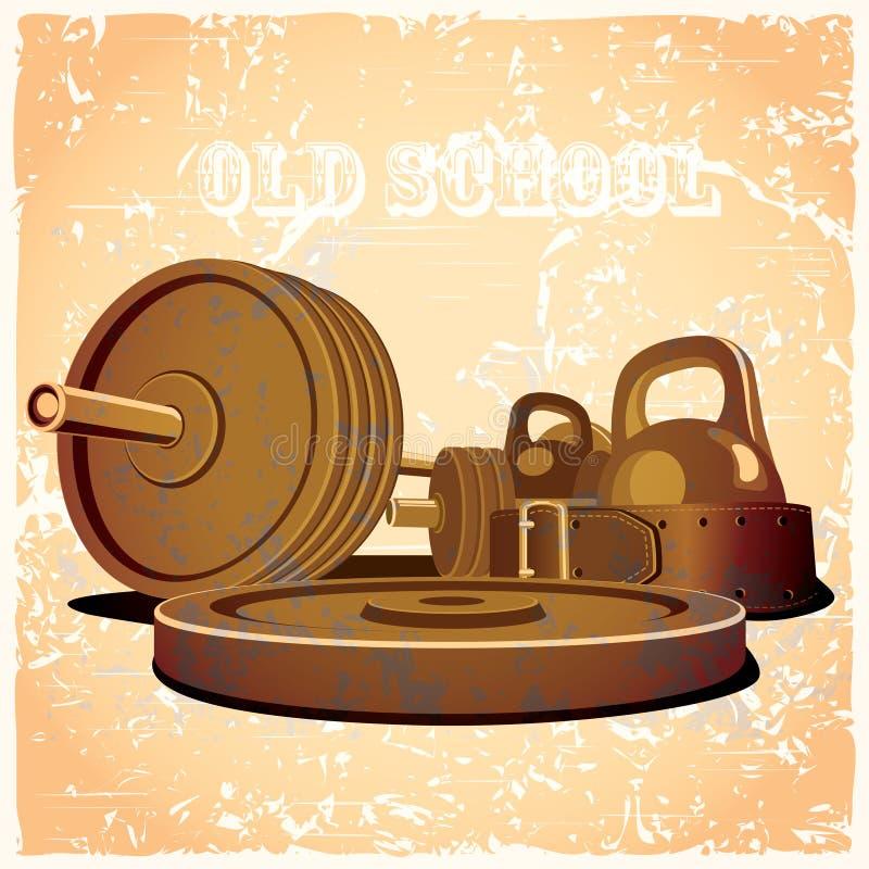 Gymnase de vieille école chaud illustration de vecteur