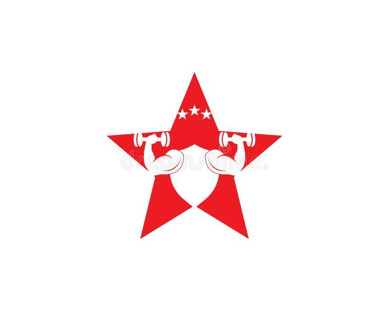 Gymnase, illustration de logo d'icône de forme physique illustration libre de droits