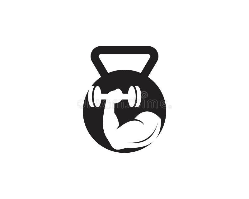 Gymnase, illustration de logo d'ic?ne de forme physique illustration de vecteur