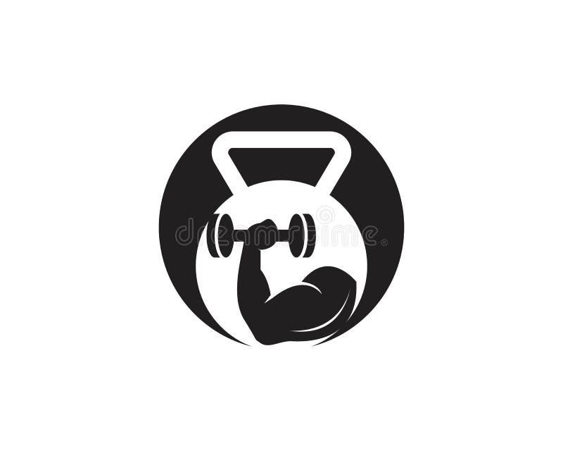 Gymnase, illustration de logo d'ic?ne de forme physique illustration stock