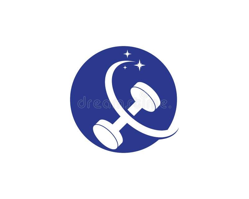Gymnase, illustration de logo d'ic?ne de forme physique illustration libre de droits