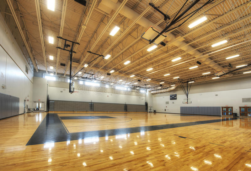 Download Gymnasium at Middle School stock image. Image of bleachers - 25491509