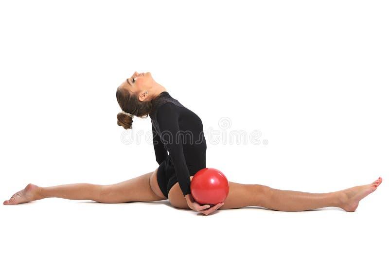 Gymnast κορίτσι στοκ εικόνα