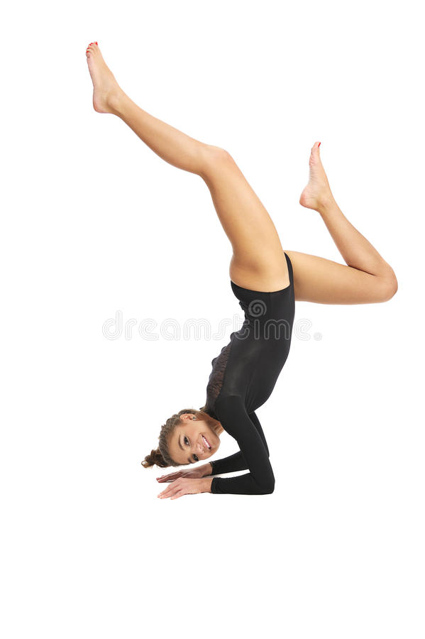 Gymnast κορίτσι στοκ φωτογραφία