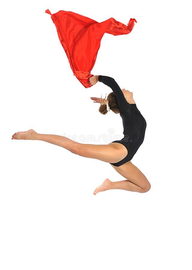 Gymnast κορίτσι στοκ εικόνα με δικαίωμα ελεύθερης χρήσης