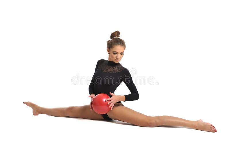 Gymnast κορίτσι στοκ φωτογραφία με δικαίωμα ελεύθερης χρήσης