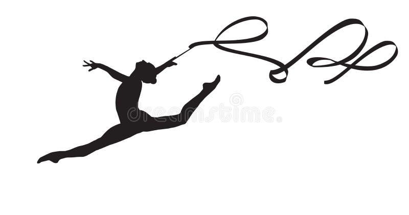 Gymnast κορίτσι απεικόνιση αποθεμάτων