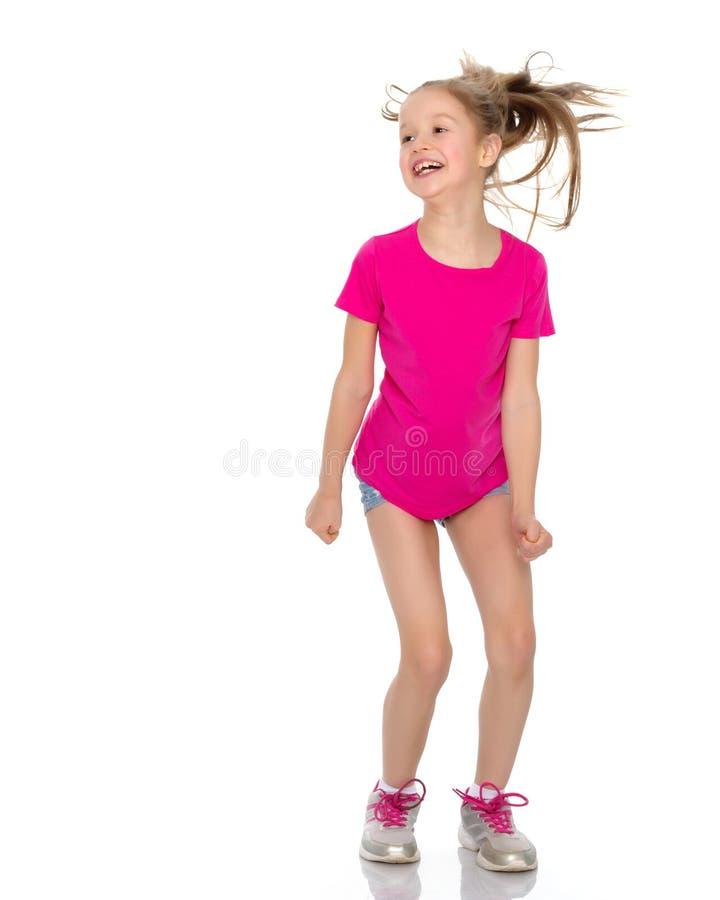 Gymnast κοριτσιών άλμα στοκ εικόνα με δικαίωμα ελεύθερης χρήσης
