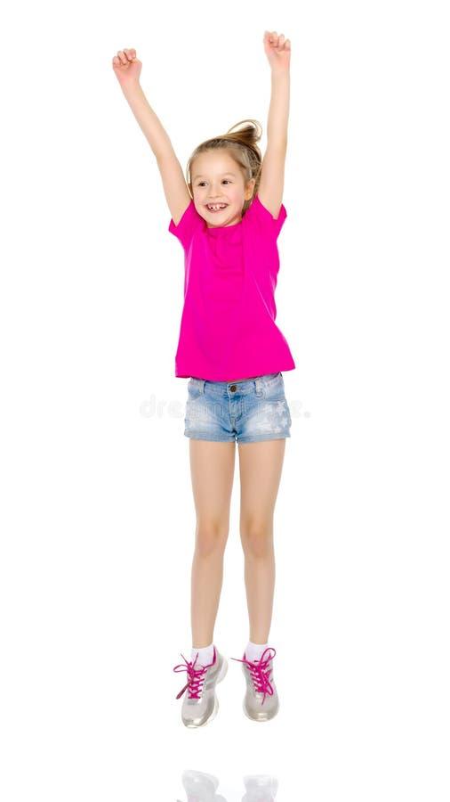 Gymnast κοριτσιών άλμα στοκ εικόνες