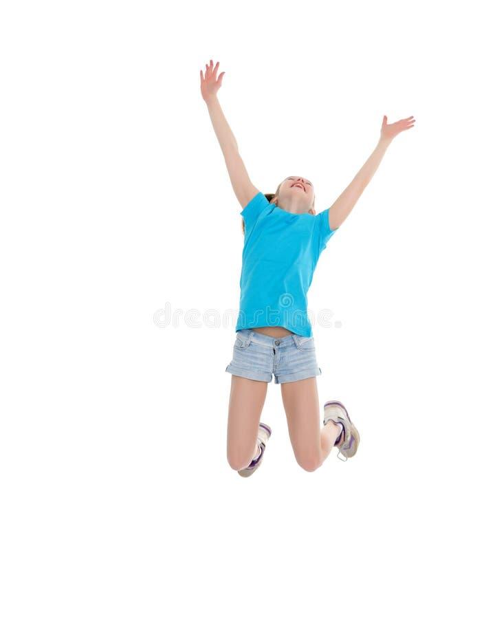 Gymnast κοριτσιών άλμα στοκ φωτογραφίες