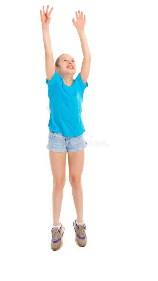 Gymnast κοριτσιών άλμα στοκ φωτογραφία με δικαίωμα ελεύθερης χρήσης
