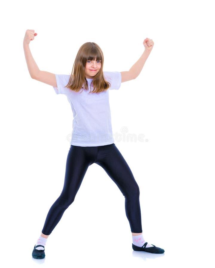 Gymnast κοριτσιών άλμα στοκ εικόνα