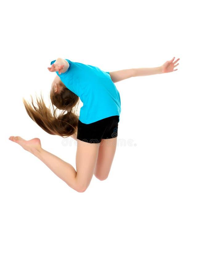 Gymnast κοριτσιών άλμα στοκ εικόνες με δικαίωμα ελεύθερης χρήσης
