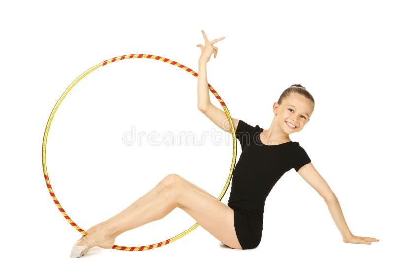 Gymnast νέων κοριτσιών στοκ εικόνα
