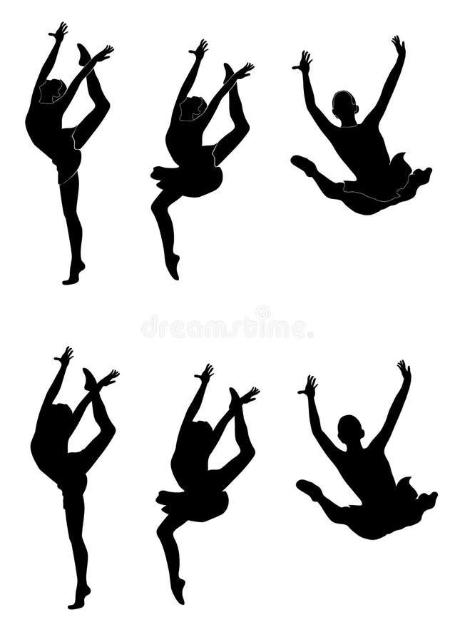 gymnast ρυθμικός απεικόνιση αποθεμάτων