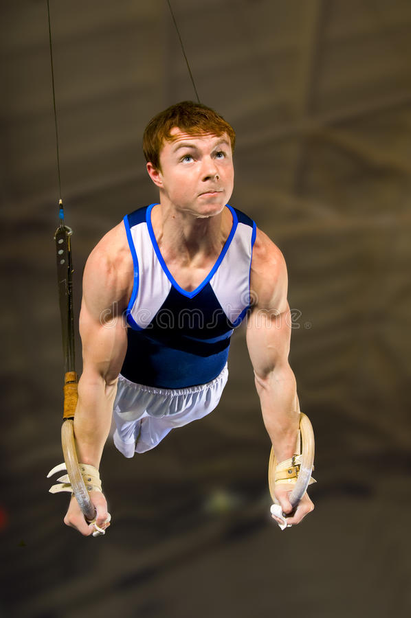 Gymnast stockbild