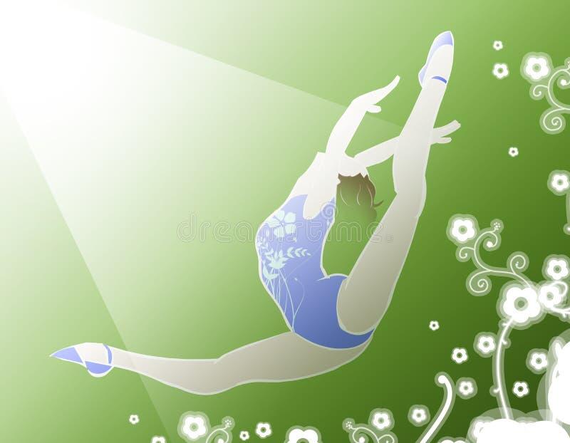 Gymnast ilustração stock