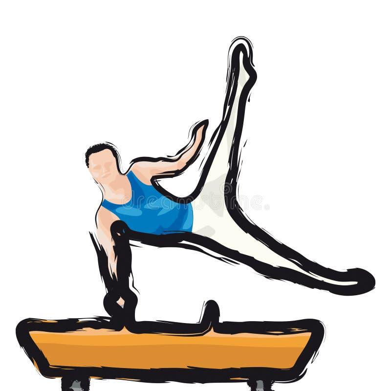 Gymnast illustrazione vettoriale