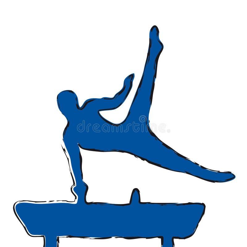 gymnast stock illustrationer