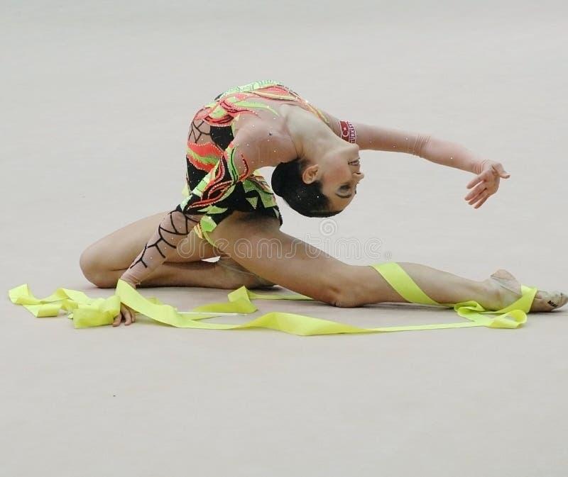 gymnast royaltyfria bilder