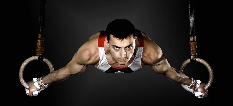 gymnast stock afbeelding