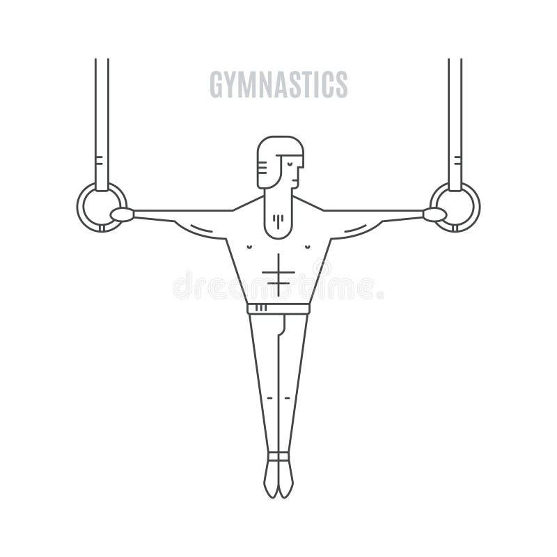 gymnast vector illustratie