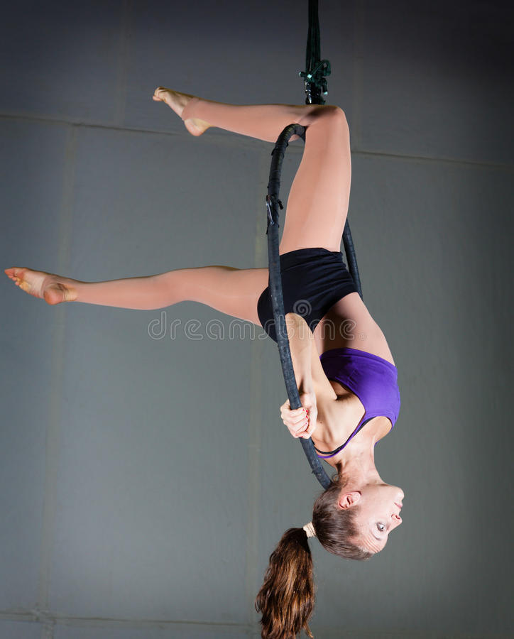 Download Gymnast stock image. Image of flexibility, purple, fabric - 37004079