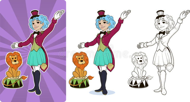 Gymnast circus character female royalty free illustration