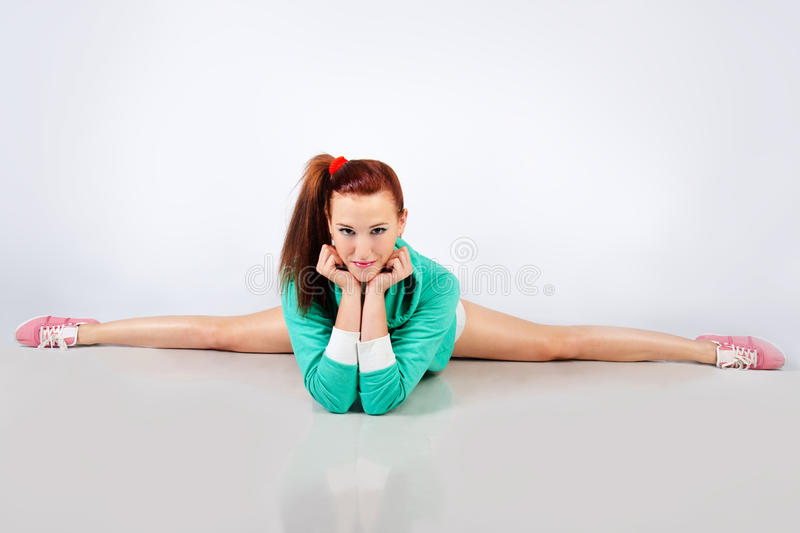 Gymnast cute girl royalty free stock photo