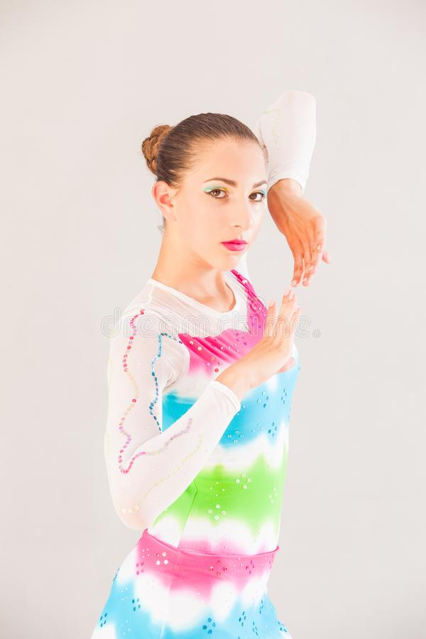Gymnast da mulher nova fotos de stock