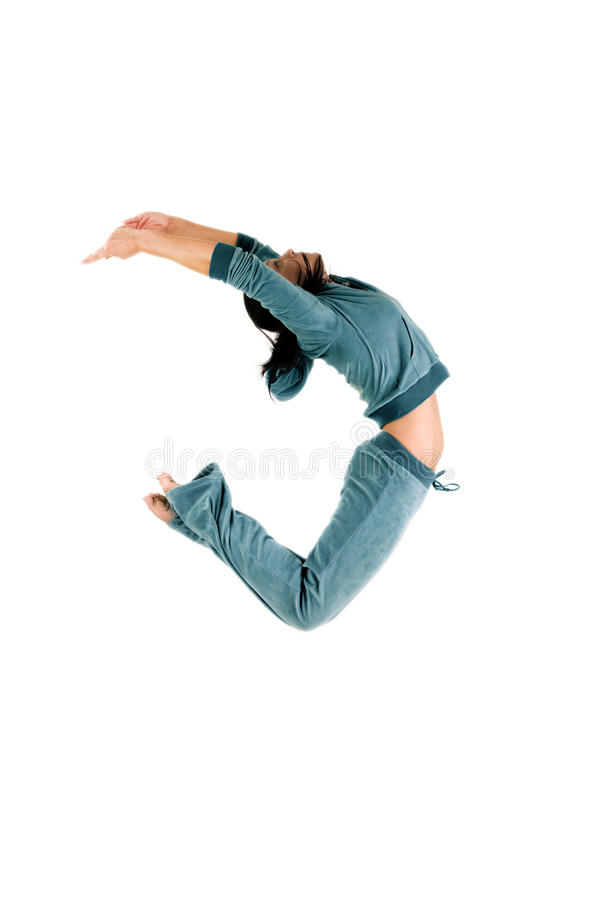 Gymnast di salto fotografia stock