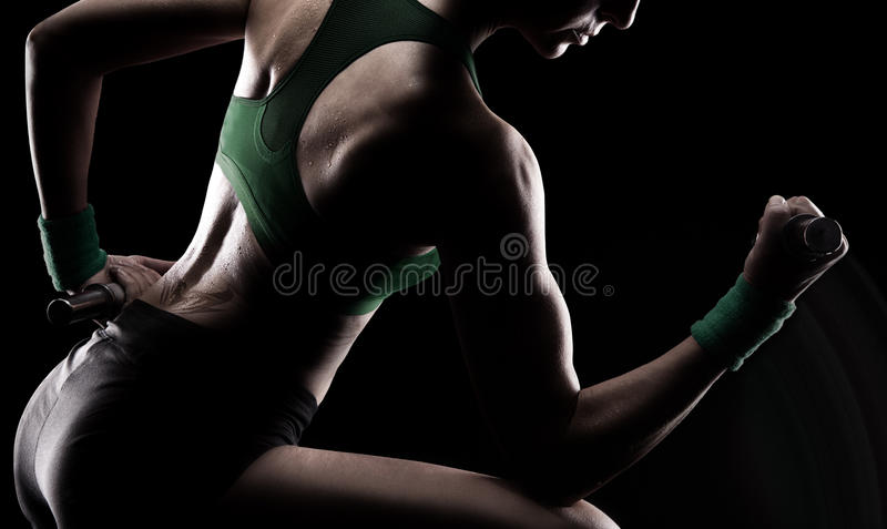 Download Gymnast Doing Weights Stock Photography - Image: 29801562