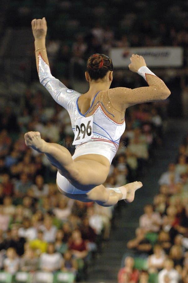 gymnast för 02 golv fotografering för bildbyråer