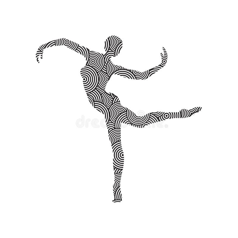 The gymnast is flooded with a pattern stock photos
