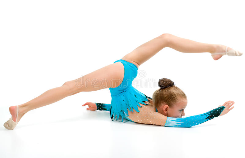 Download Gymnast Girl In Flexible Back Pose Stock Image - Image: 12501715