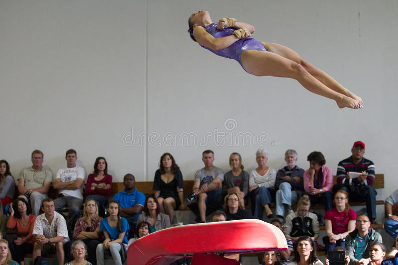 Download Gymnast Girl Jump Vault Spin Editorial Photography - Image: 31892187