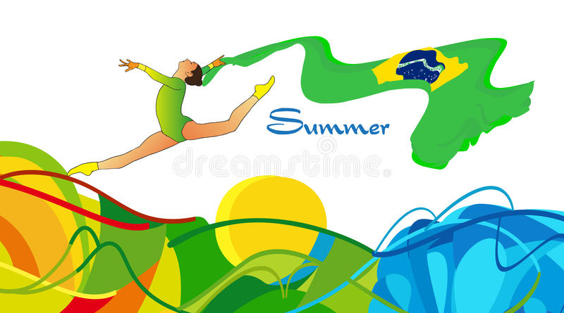 Download Gymnast girl stock vector. Image of female, federation - 81642411