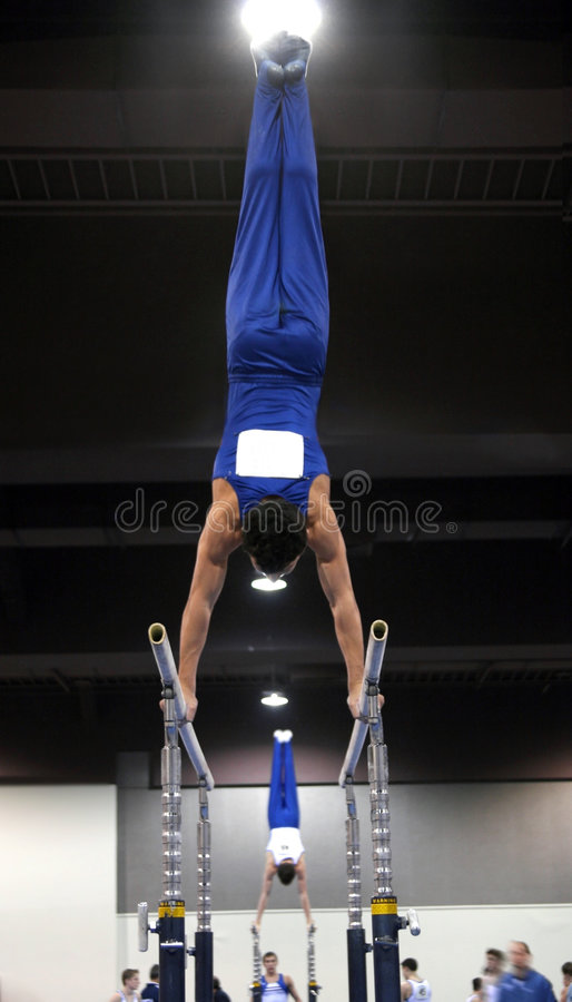 Download Gymnast on parallel bars stock photo. Image of lifestyle - 75902
