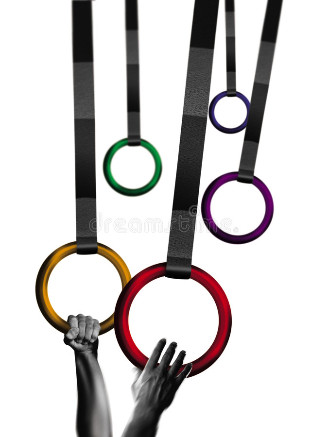 Gymnast rings royalty free stock images
