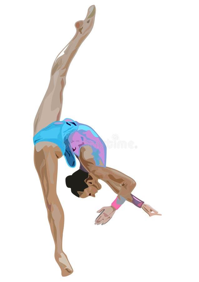 Gymnast ritmico immagini stock libere da diritti