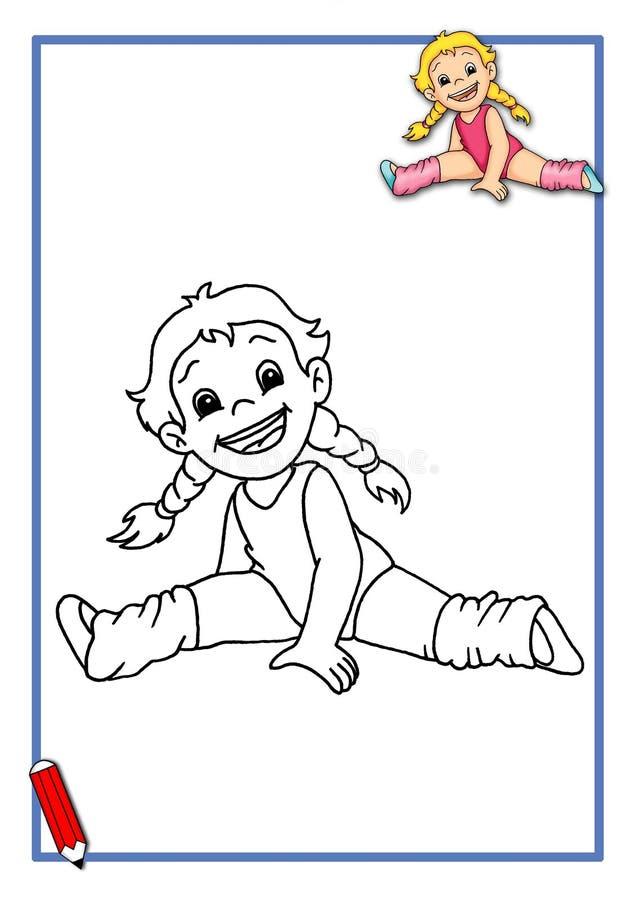Gymnast a ser cor ilustração royalty free